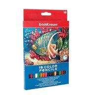 ErichKrause Creioane colorate hexagonale - set 18 culori