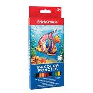 ErichKrause Creioane colorate hexagonale - set 24 culori