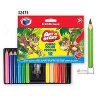ErichKrause Set 12 creioane colorate scurte Jumbo
