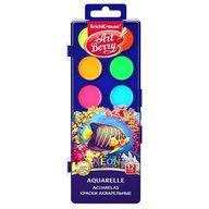 ErichKrause Set acuarele neon cu protectie UV  - 12 culori