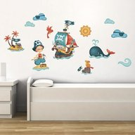 Eurekakids - Stickere pentru decorarea camerei baietilor Pirati neinfricati