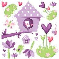 Eurekakids - Stickere pentru decorarea camerei fetitelor Gradina fermecata