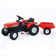 Falk Tractor cu Pedale Farm Rosu