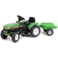 Falk Tractor Farm Verde cu Remorca si Pedale