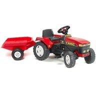 Falk Tractor Trac Rosu cu Remorca si Pedale