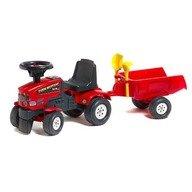 Falk Tractoras Baby Farm Mustang cu remorca