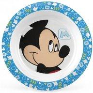 Lulabi - Farfurie adanca melamina Mickey, Albastru