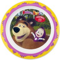 Lulabi - Farfurie plastic Masha and The Bear 22cm