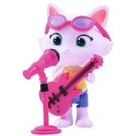 Smoby - Figurina 44 Cats Milady 7,7 cm cu microfon si chitara bass