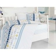 First Choice Lenjerie Baby bamboo 4 piese -chick blue