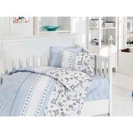 First Choice Lenjerie Baby bamboo 4 piese -monkey blue