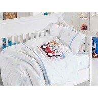 First Choice Lenjerie Baby bamboo 4 piese -penguins blue