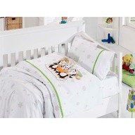 First Choice Lenjerie Baby bamboo 4 piese -penguins verde