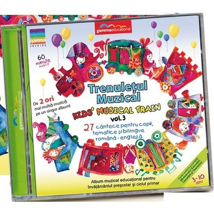 Gamma Educational Album muzical Trenuletul Muzical - Kids Musical Train vol.3