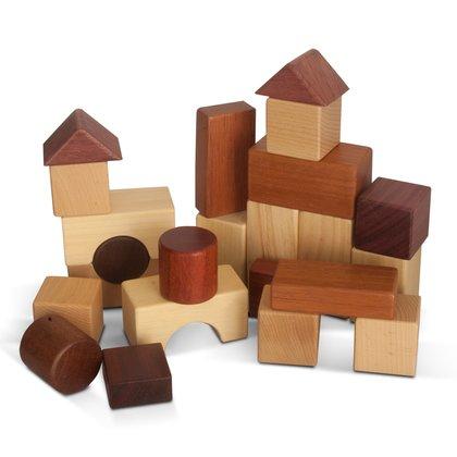 Garibel Cuburi din lemn natural