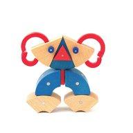 Genii Creation - Joc magnetic educativ din lemn Animale 39 piese