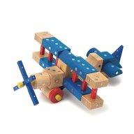 Genii Creation - Joc magnetic educativ din lemn Mijloace de transport 110 piese