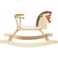 Globo - Calut balansoar din lemn Legnoland 37021 pentru copii cu spatar