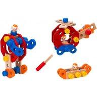 Globo Joc educativ de construit Globo Legnoland Mechanik 37546 50 piese multicolore cu figurine incluse