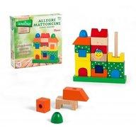 Globo Legnoland Jucarie educativa din lemn Cuburi de stivuit colorate
