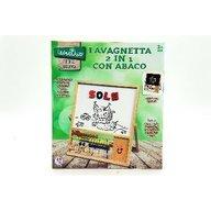 Globo Legnoland - Tablita de scris cu creta sau marker cu 2 fete si cu socotitoare si 26 litere incluse