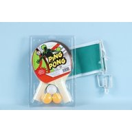 Globo - Set 2 palete de ping pong cu fileu inclus si 3 mingi