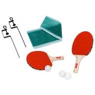 Globo - Set 2 palete de ping pong cu fileu inclus si 3 mingi Rosu