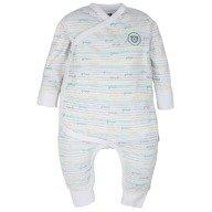 Gmini Plus Salopeta pentru bebelusi alb cu turquoise
