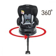 Graco - Scaun auto Turn2Reach Midnight Gray 360grade cu Isofix 0-18 kg