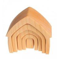 GRIMM'S Spiel und Holz Design - Casuta papusilor, Natur