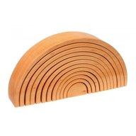 GRIMM'S Spiel und Holz Design - Curcubeu 12 piese, natur