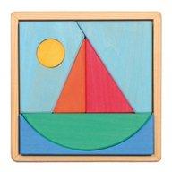 GRIMM'S Spiel und Holz Design - Puzzle din lemn cu barcuta si soare