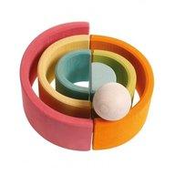 GRIMM'S Spiel und Holz Design - Set de 6 bile mari, Pastel