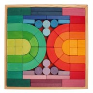 GRIMM'S Spiel und Holz Design Set de construit Romanesque, cu piese mari