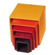 GRIMM'S Spiel und Holz Design Set de cutii colorate, galben