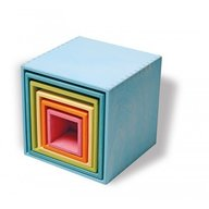 GRIMM'S Spiel und Holz Design - Set mare de cutii colorate pastel