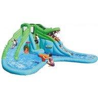 Happy Hop Saltea gonflabila Crocodil cu tobogane cu apa 570x515x240