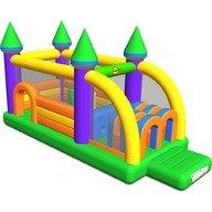 Happy Hop Saltea gonflabila profesionala Castel cu obstacole 610x260x320