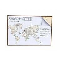 Wooden City - Puzzle 3D Harta lumii , Puzzle Copii , L, De perete, piese 29