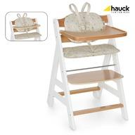 Hauck Scaun Masa din Lemn Beta+B - White/Natur