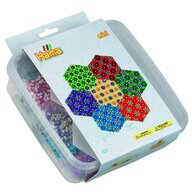 Hama - Set margele de calcat Hexagon In cutie de plastic, 10500 buc Mini