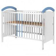 Hubners Patut copii din lemn Anita 120x60 cm alb-albastru