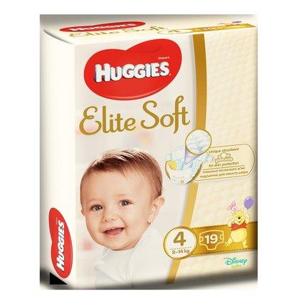 Huggies Elite Soft (nr 4) Convi 19 buc, 8-14 kg