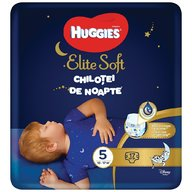 Huggies - Elite Soft Overnights Pants (nr 5) 17 buc, 12-17 kg