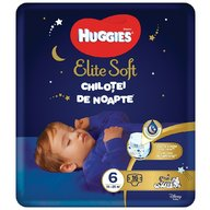 Huggies Elite Soft Overnights Pants (nr 6) 16 buc, 15-25 kg