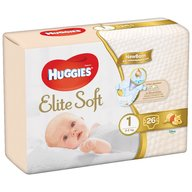 Scutece Huggies New Elite Soft (nr 1) Conv 26 buc, 3- 5 kg