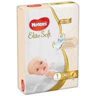 Scutece Huggies New Elite Soft (nr 1) Jumbo 50 buc, 3- 5 kg