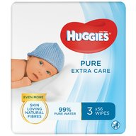 Huggies - Servetele  N'Care ExC Triplo, 56 x 3 buc.