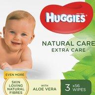 Huggies - Servetele  N'Care ExC Triplo, 56 x 3 buc.