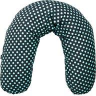 Womar Zaffiro - Husa pentru Perna de alaptat Comfort Exclusive 170 cm, Gri Inchis/Turcoaz